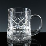 HALF Pint Cut Crystal Tankard PERSONALISED ref CHT1